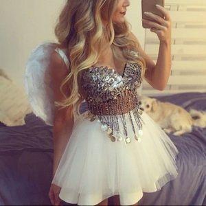 ♡ rave angel glitter wings